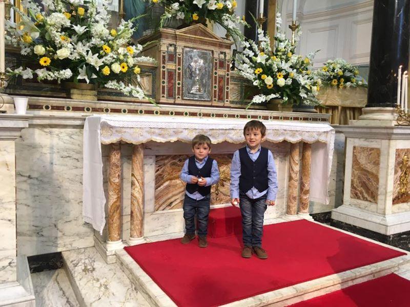 boys at church